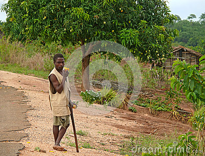 ALTO MOLOCUE, MOZAMBIQUE - 7 DECEMBER 2008: Unknown African man Editorial Stock Image