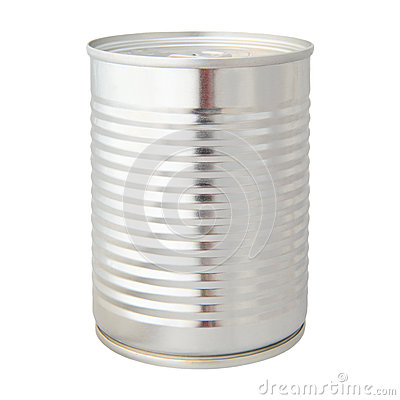 Aluminium can isolated white background