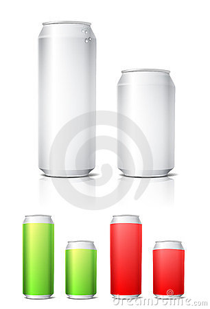 Aluminium cans illustration