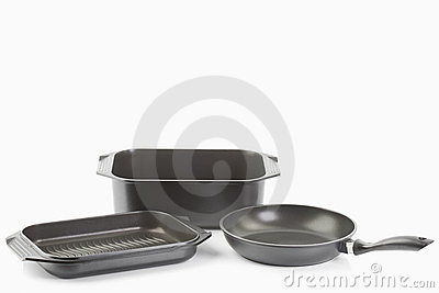 Aluminium cast frying pans