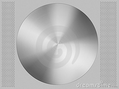 Aluminium circle and background