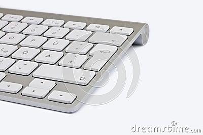 Aluminium keyboard