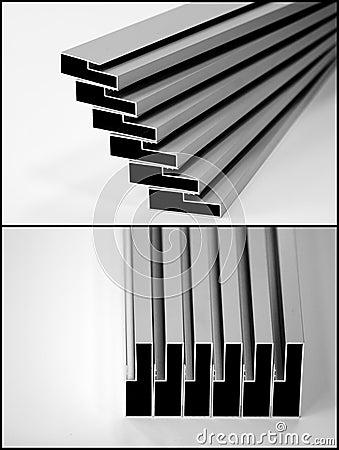 Free Aluminium Profiles Stock Photography - 14953472