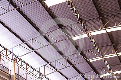 Aluminium roof of the factory.