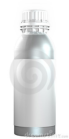 Aluminium or steel bottle with plastic twist cap