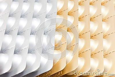 Aluminium strips of medical pills