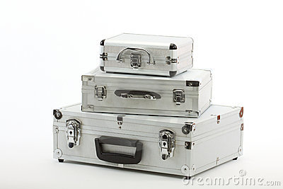 Aluminium suitcases