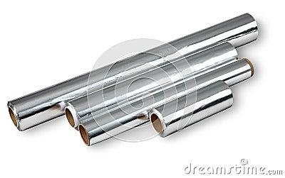 Aluminiumfolie voor het koken van en het opslaan van voedsel vier broodjes royalty vrije stock for Beeldkoken