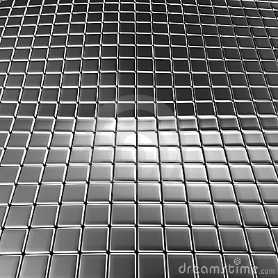 Aluminum abstract background with reflection