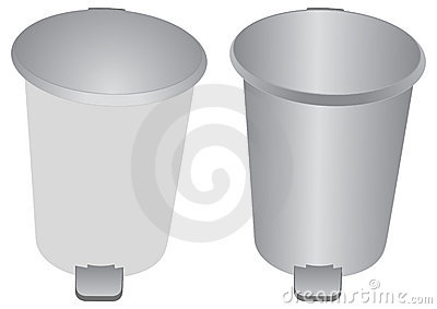 Aluminum bin and Garbage can