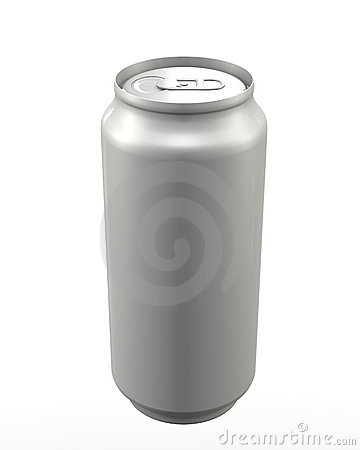 Aluminum can closed
