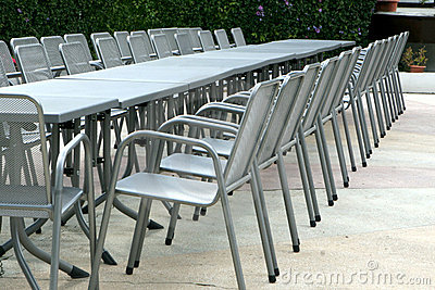 Aluminum chairs and tables
