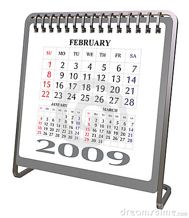 Aluminum and Chrome Desktop calendar 2009