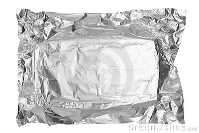 Aluminum foil from chocolate