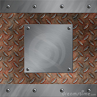 Aluminum frame and rusted diamond metal