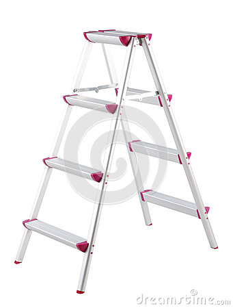 Aluminum ladder step