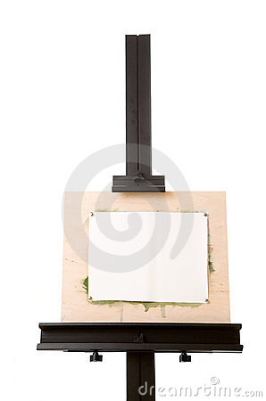 Free Aluminum Painter S Easel Isolated On White Royalty Free Stock Image - 10428916