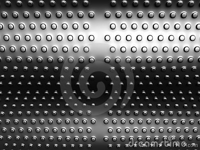 Aluminum round dots pattern background