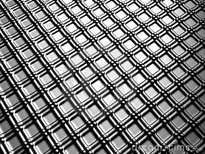 Aluminum silver square pattern background