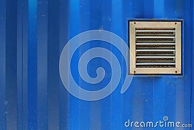 Aluminum ventilation on blue cargo container