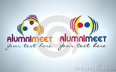 Alumni meet logo design