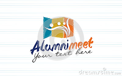 Alumni meet logo design