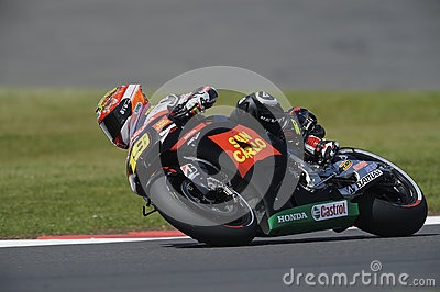 Alvaro bautista, moto gp 2012 Editorial Stock Photo