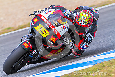 Alvaro Bautista pilot of MotoGP Editorial Stock Photo