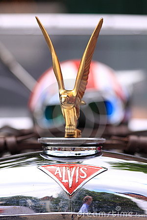 Alvis old timer car logo Editorial Image