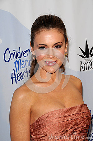 Alyssa Milano Editorial Stock Photo