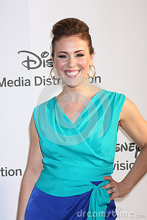 Alyssa Milano arrives at the ABC / Disney International Upfronts Editorial Stock Photo