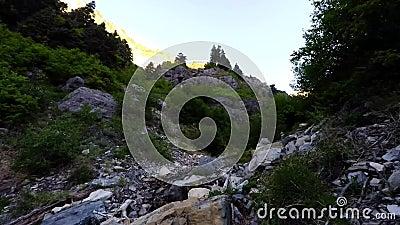 Alza de Utah Timelapse de las caídas de Lost Creek almacen de video