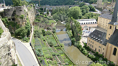 Alzette river Luxembourg