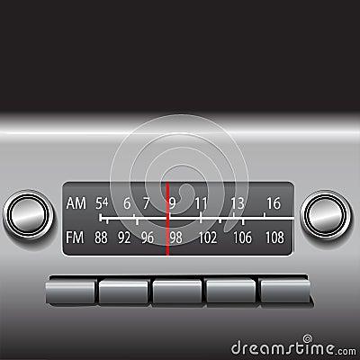 Free AM FM Car Dashboard Radio Stock Images - 3193464