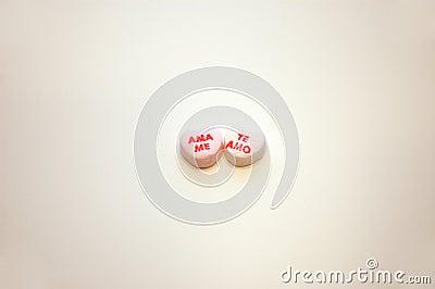 Ama Me Te Amo Valentines Day Conversation Hearts