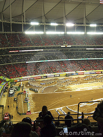 AMA Supercross in Atlanta, Georgia Editorial Photography