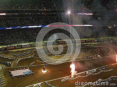 AMA Supercross in Atlanta, Georgia Editorial Image