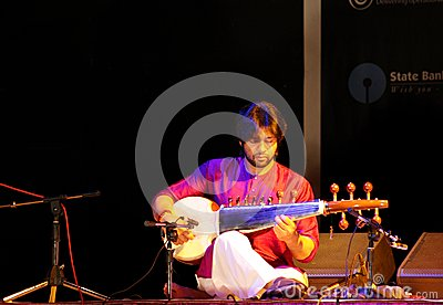Amaan Ali Khan plays Sarod in Bahrain Editorial Photo