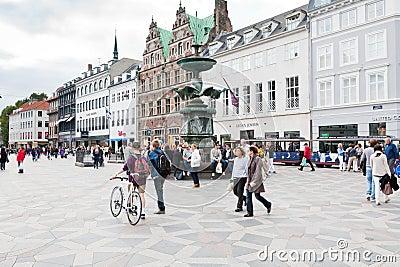 Amagertorv -  central square in Copenhagen Editorial Stock Photo