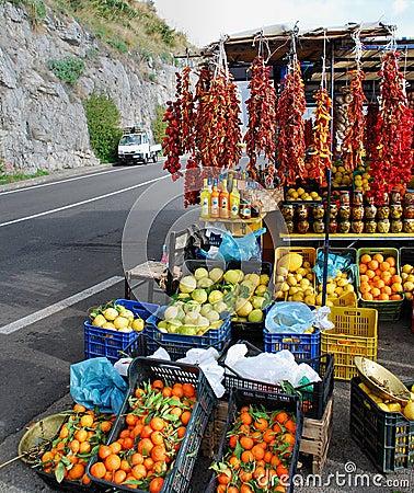 Amalfi Coast fruit stand