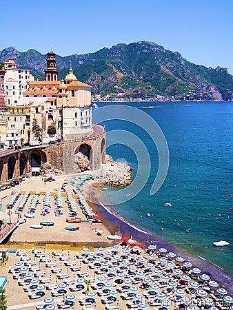 Free Amalfi Coast View Stock Image - 30114341