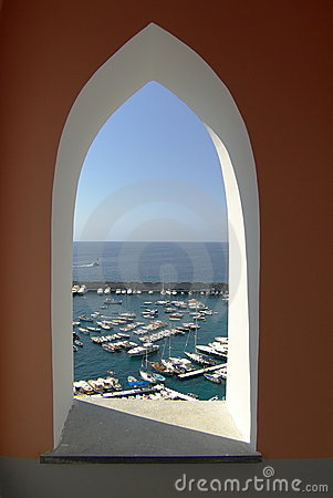Amalfi window on the port