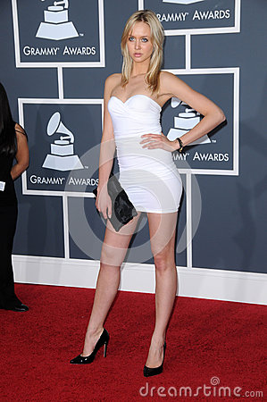 Amalie Wichmann at the 52nd Annual Grammy Awards - Arrivals, Staples Center, Los Angeles, CA. 01-31-10 Editorial Stock Image
