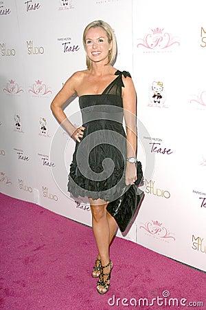 Amanda Holden,Paris Hilton Editorial Stock Image