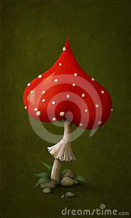 Free Amanita In Shape Of Heart. Royalty Free Stock Images - 24335499