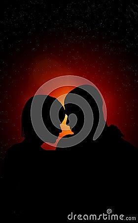 Amantes en la noche