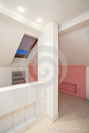 Amaranth house - bright bathroom