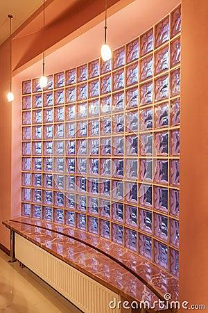 Amaranth house - Glass blocks wall