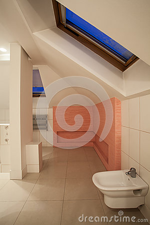 Amaranth house - white and pink bathroom