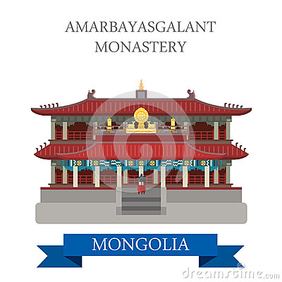 Free Amarbayasgalant Buddhist Monastery Mongolia Vector Attraction Royalty Free Stock Photos - 69348518